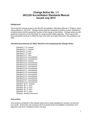 Change Notice No. 1.1 IACLEA Accreditation Standards Manual ...