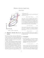 Relative velocity of rigid body