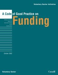 A Code of Good Practice on Funding