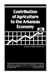 Contribution of Agriculture to the Arkansas Economy - Agricultural ...