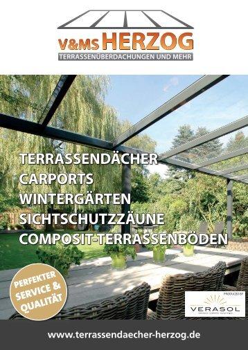 V&MS HERZOG, Terrassendächer, Carports, Wintergärten