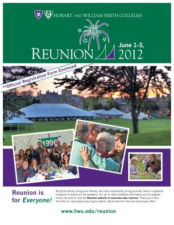 Reunion is for Everyone! - Hobart and William Smith Colleges