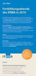 Fortbildungsabende des IFBBA in 2010 - A3 Wirtschaftskalender