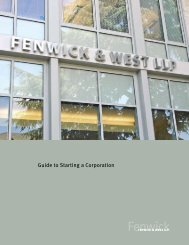 2009 Guide to Starting a Corporation - Fenwick & West LLP