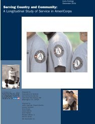 Serving Country and Community: A Longitudinal ... - Abt Associates