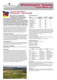 Afslutningstur Spanien - Vorup Frederiksberg Boldklub