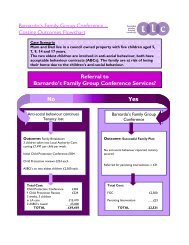 Barnardo's Family Group Conference – Costing Outcomes Flowchart ...