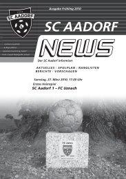 SCA-News Frühjahr 2010 - SC Aadorf