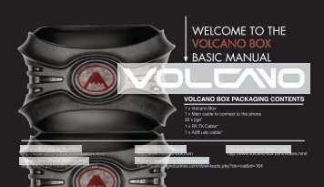 WELCOME TO THE BASIC MANUAL VOLCANO BOX