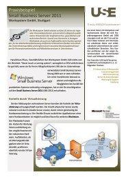Small Business Server 2011 - USE Projektmanagement GmbH