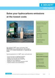 Solve your hydrocarbons emissions at the lowest costs - Bekaert