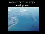 Proposed sites for project development