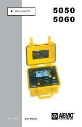 AEMC Model 5050 Megohmmeter Manual PDF (1.1 MB) - Instrumart