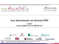Les documents au format PDF selon AccessiWeb 2.0 ... - AcceDe PDF
