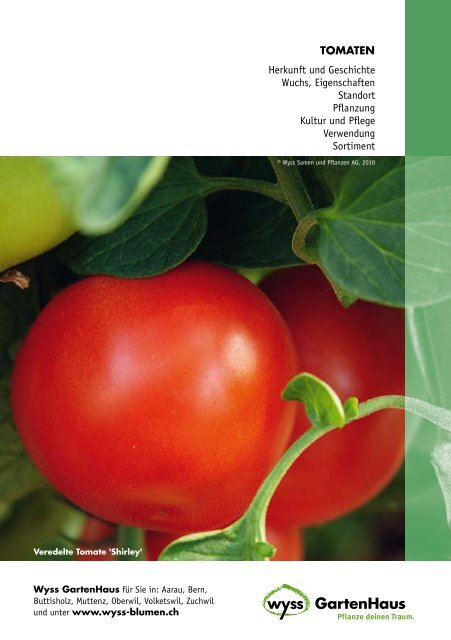 Thomaten-Broschüre hier herunterladen - Gartenfreunde.ch
