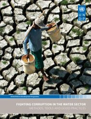 FightiNg CorrUPtioN iN the water SeCtor METHODS, TOOLS AND ...