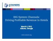 IHG System Channels: Driving Profitable Revenue to Hotels