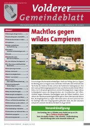 Gemeindeblatt / Ausgabe 3/2007 - Gemeinde Volders - Land Tirol
