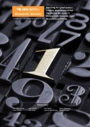 NSER 01 - New School Economic Review