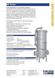 Micro Filter MF Series - regula servis