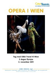 Opera i Wien - GIBA Travel
