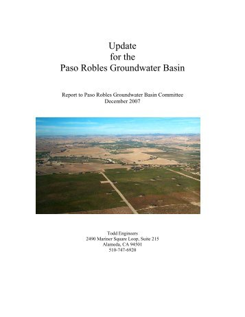 Paso Robles Groundwater Basin Update - SLOCountyWater.org