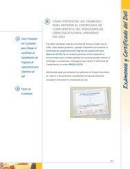 Examenes y Certificado del Deli