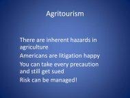 Agritourism - University of California Small Farm Program