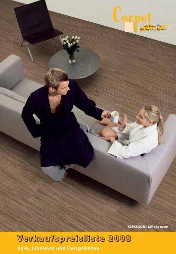 prospekt korkb den pdf das korkparkett. Black Bedroom Furniture Sets. Home Design Ideas