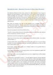 Machado de Assis – Memórias Póstumas de Brás Cubas (Resumo)
