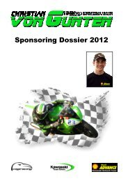 Sponsoring Dossier 2012 - Vogiracing