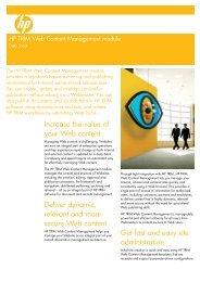 HP TRIM Web Content Management module - Product ...