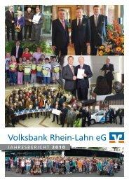 Jahresbericht 2010 - Volksbank Rhein-Lahn eG