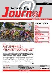 Swiss Cycling Journal 06/2004 - Velo-Moto-Club Männedorf