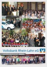 Jahresbericht 2009 - Volksbank Rhein-Lahn eG