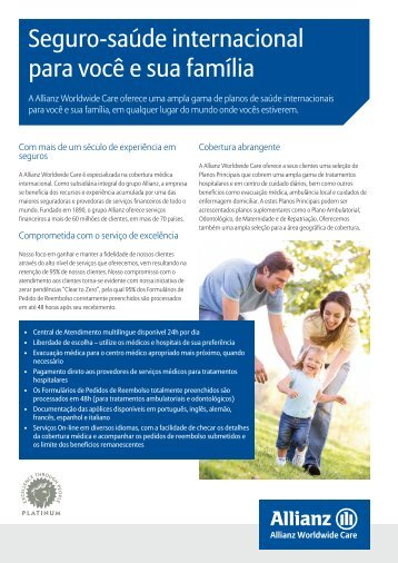 Panfleto para Vendas - Allianz Worldwide Care