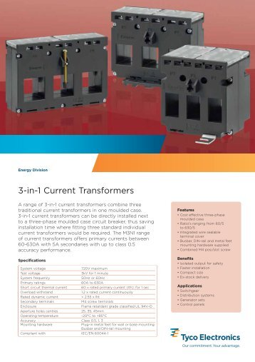 3-in-1 Current Transformers - Crompton Instruments