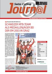 Swiss Cycling Journal 08/2003 - Velo-Moto-Club Männedorf