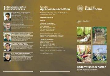Bodenwissenschaften - STUDIUM