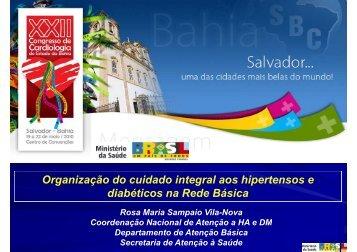 Organização do cuidado integral aos hipertensos e diabéticos na ...