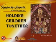 Holding Children Together - Northern Territory Council of Social ...