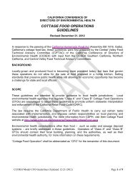 Cottage Food Operations Guidelines - Nevada County Government
