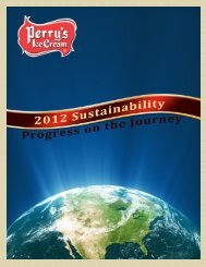 2012 Annual Sustainability Report. - Perry's Ice Cream