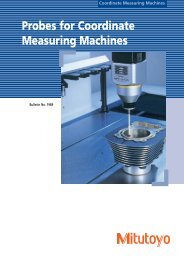 Probes for Coordinate Measuring Machines - Mitutoyo America ...