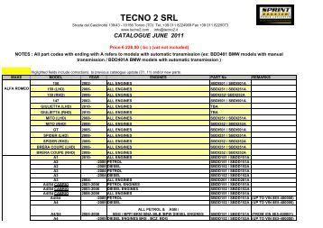 CATALOGUE JUNE 2011 - Sprint Booster