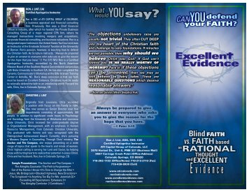 Ministry Brochure-2010- Web version.pdf - Excellent Evidence