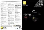 Nikon F6 Brochure - Vistek