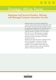 Enterprises and Service Providers: Winning with Managed ... - Key4biz