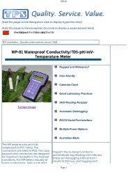 WP-81 Waterproof Conductivity/TDS-pH/mV- Temperature Meter - TPS