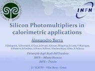 Silicon Photomultipliers in calorimetric applications - Villa Olmo - Infn